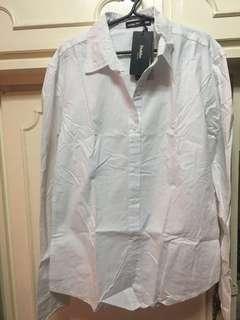 White polo long sleeve