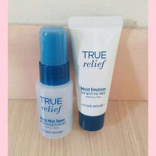 True Relief Toner and Emulsion Travel Size