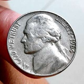 1964 US-Jefferson 5c Coin.