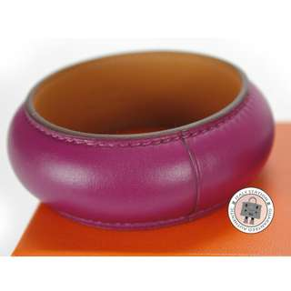 (NEW)Hermes ASTRAL EXTRA-LARGE LEATHER S BRACELET, PURPLE 全新 手鐲 手鈪 手帶 紫色