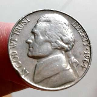1964 US-Jefferson 5c Coin.#1