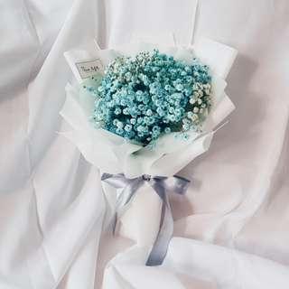 Blue Baby Breath Bouquet