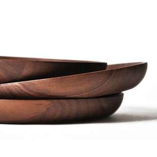 Nordic Black Walnut Wooden Plate