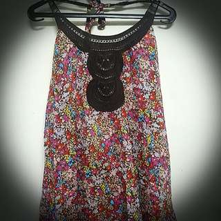 Flower top backless