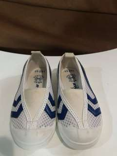 Moonstar White and Blue Shoes