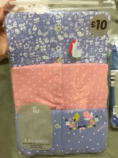 Baby Gift Set baby girl pajamas footed 3-6, 6-9, 9-12 months available
