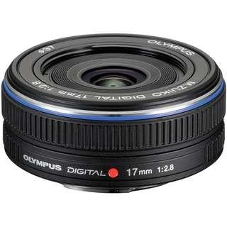 全新有盒 Olympus M.ZUIKO DIGITAL 17mm f2.8黑色超廣角定焦鏡頭 EM10 EM5 E-PL6 EPL1 E-PL7 EPL8 Panasonic GF8 GF9 GX85 GF7