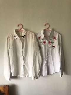 White button down shirts