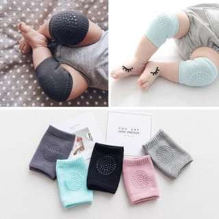 Comfy Korea Baby crawl protector anti slip knee pads Light Gray Set of 5