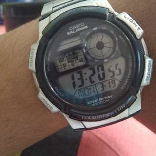 casio round watch illuminator digital Ae-1000Wd-1A