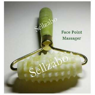 Ancient Beauty Cooling Rolling Jade Stone Massagers For Face Sellzabo Facial Skin Care Skincare Slim Contour Blood Circulation Massage Tool