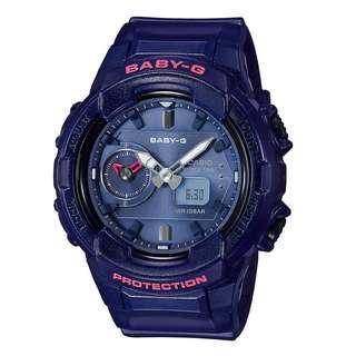 BGA-230S-2ADR BGA-230S-2A BGA-230S Brand New Casio Baby-G Quartz 100m Analog 100% Authentic World Time Alarm Female Sports Watch w/ Warranty