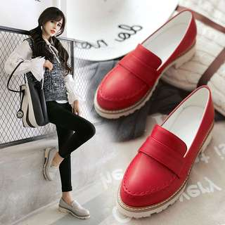 Size 32-43 Rounded Toes Wedges Shoes