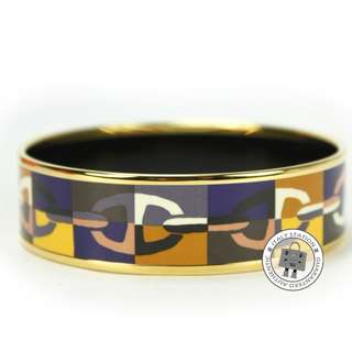 (NEW)Hermes 112101F PRINTED OPTIQUE CHAINE D ANCRE / 1IN ENAMEL 65CM BRACELET GHW, MULTOCOLOR / 25+65 全新 手鐲 手鈪
