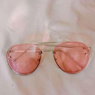 Pink sunglasess