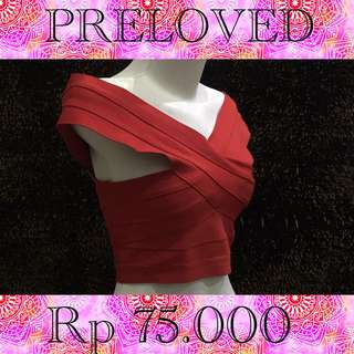 Prelove atasan dress merah red good quality