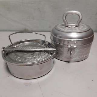 Set Of 2 Single Layer Tiffin