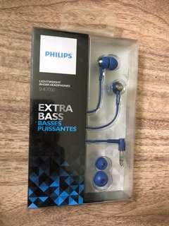 Headset philips she7000 extrabass new original bergaransi