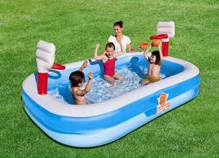 Bestway Inflatable Pool with Basketball Rings