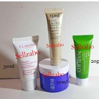 Estee Lauder Kose Naruko Clarins Masks Masque Skin Care Skincare Eyes Face Facial Sellzabo