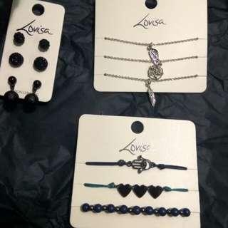 Lovisa bracelet and earrings