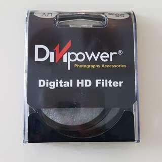 55mm UV clear filter for lens