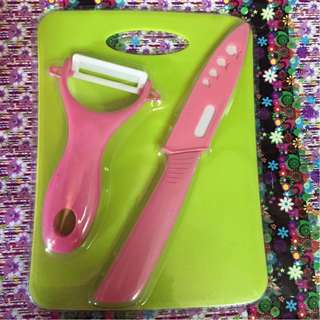 Knife set 3in1 (knife/ peeler/ chopper)