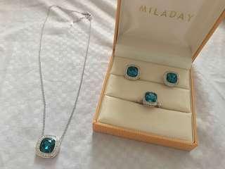 Miladay Blue Sapphire set