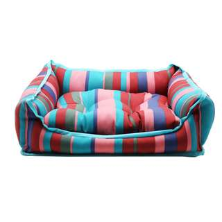 Rectangle Pet Bed with Dog Different Color Printing (Small)