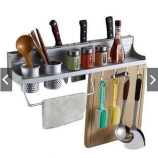 [ Ready Stock ] Aluminium Kitchen Storage Rack / Knife Rest - 60cm