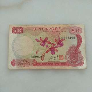 Old Singapore Orchid $10 note