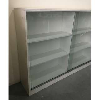 White Display Cabinet (6 1/2ft width)