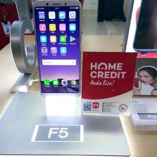 Dijual Oppo F5 Promo Bunga 0,99% Pakai Home Credit Proses Cepat