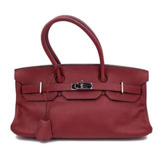 (Second hand)Hermes SHOULDER BIRKIN TOGO 42 SHOULDER BAG PHW, ROUGE RED 二手 手袋 紅色 銀扣