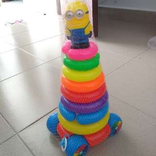 Stack-up rings toy