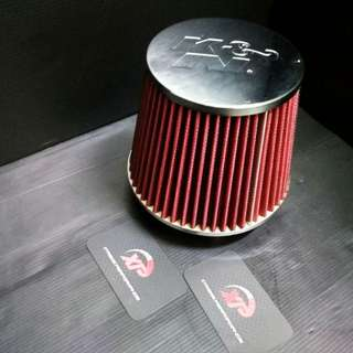 AIR FILTER OPEN POD SPORT KNN WITH LOGO CHROME TOP AND BOTTOM ALZA MYVI KANCIL GEN2 WIRA WAJA SAGA SATRIA