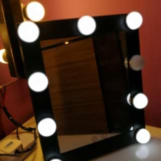 Desk make up mirror with lights.