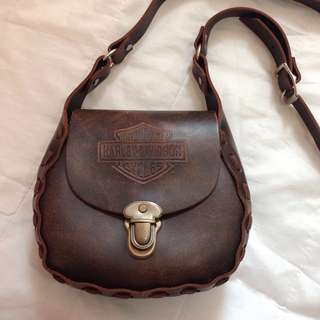 Harley-Davison Leather Bag Men Women Handbag New Vintage