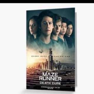 Brand new in original packaging maze runner death cure movie postcards m