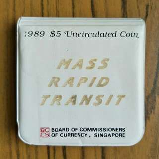 1989 $5 Uncirculated Coin MRT