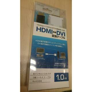 HDMI DVI cable adapter connector