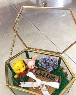 Wedding ring box, rustic wedding