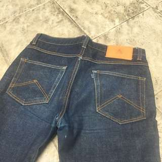 "Aye Denim ""Odd Fellow"" slim tappered cut, sz 33"