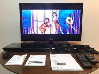 "Sony Bravia 3D Full HD LCD TV 32"""