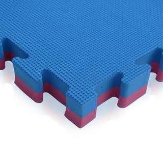 Blue/Red Gym Flooring Mats Interlocking 1 x 1 meter x 40mm