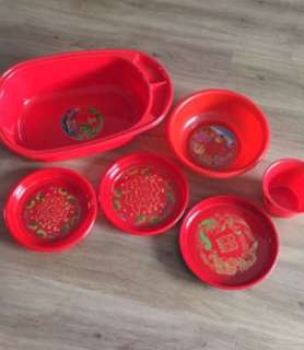 Wedding Dowry Items (Red Wedding plate Trays)