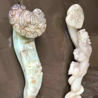 Stone and jade hand carving antique