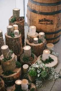 Wooden Logs (Rental) Wedding Decoration