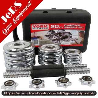 20kg York dumbell set