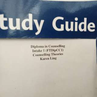 Study guide counselling